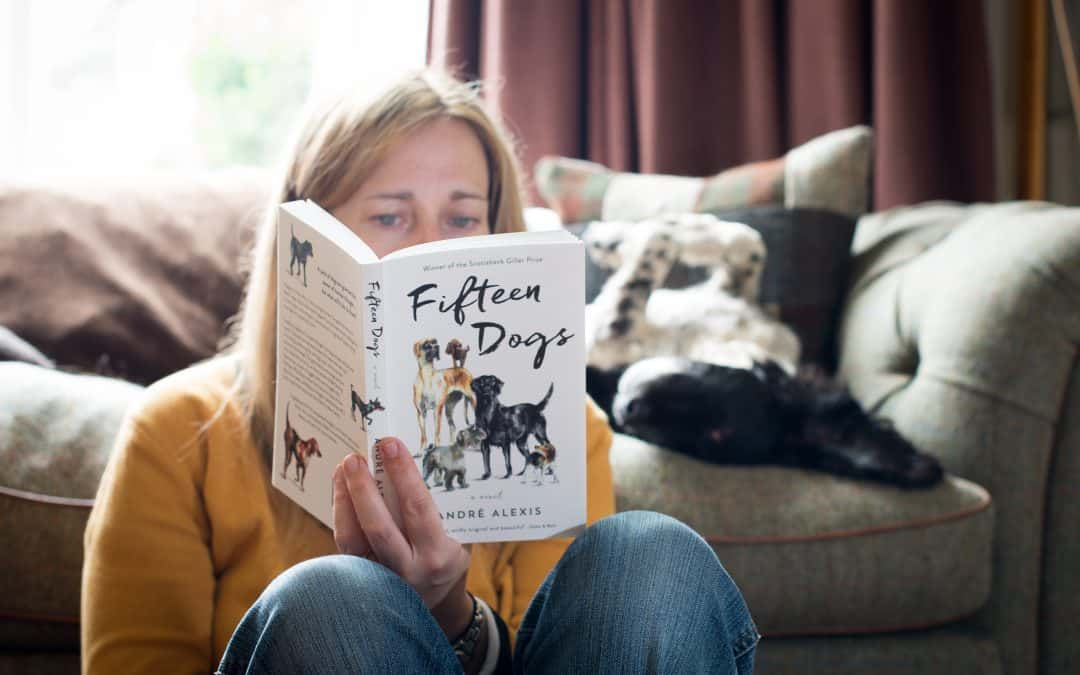 Book Review: Reading Fifteen Dogs with one beside me…